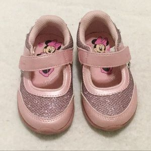 Minnie Mouse Pink Glitter Light Up Sneakers